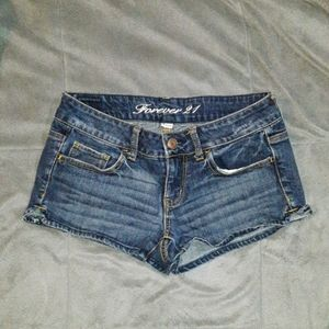 Forever 21 womens 26 blue jean shorts